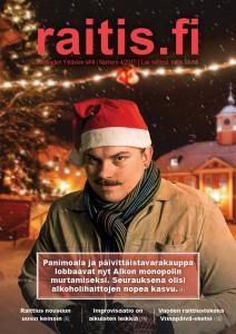 Joni Villasen hauskan jouluinen omakuva löytyy myös tämän raitis.fi-lehden painetun version kannesta.