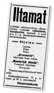 Raittiustoiminnan juliste vuodelta 1906