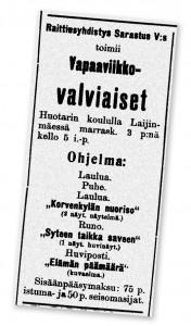 Raittiustoimintaa 1907